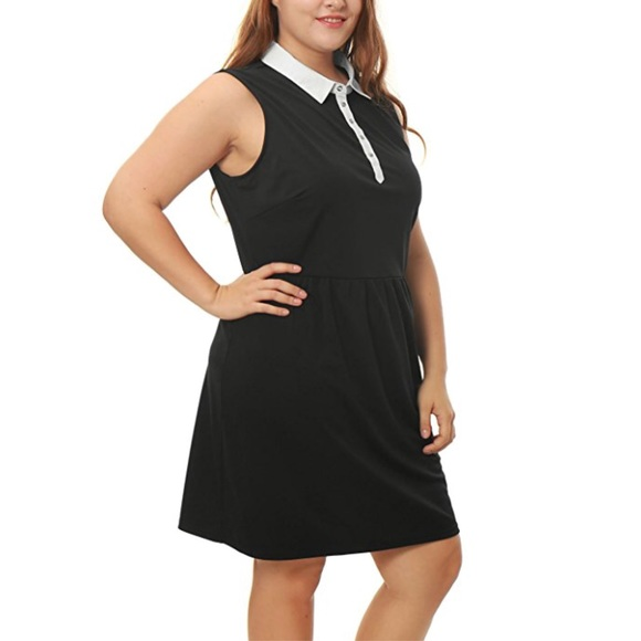 Boutique Dresses | Flattering Plus Size Peter Pan Collared Dress ...